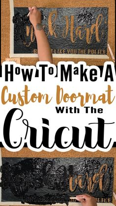 I was looking for the perfect outdoor mat to match my smart-mouthed personality. Then I remembered I can make Cricut stencils. #cricutmade #outdoormat #cricutprojects #cricutmade