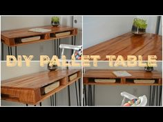 DIY Pallet Table / Faça Você Mesmo-Mesa de Palete - YouTube https://www.youtube.com/watch?v=SY5rUNQ7lyU