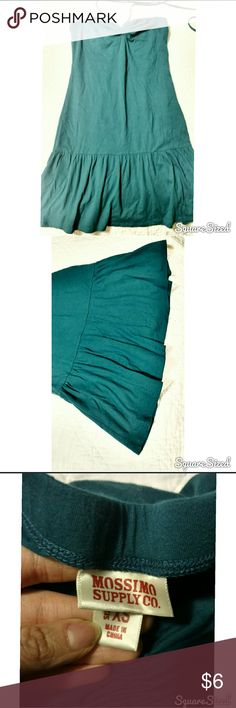 FINAL SALE. MUST GO TODAY! Teal sundress that ties around the neck with ruffle bottom. Never worn, super cute. Bought from Target, juniors size XS. Mossimo Supply Co. Dresses
