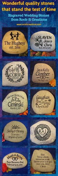 personalized anniversary rocks engraved, custom engraved oathing stones, wedding engraved stones, personalized wedding stone, engraved wedding stone, #rockitcreations #engravedrocks #engravedstones #engravedweddingstones #engravedgifts #oathingstones