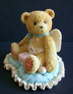 Little Bundle of Joy Baby Boy Cherished Teddies Figurine - Free Shipping