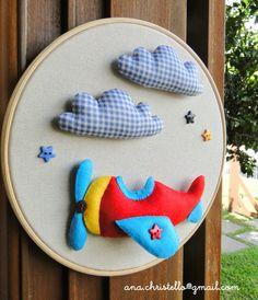 Felt Crafts, Diy And Crafts, Sewing Crafts, Sewing Projects, Ideas Habitaciones, Felt Wreath, Felt Baby, Baby Keepsake, Embroidery Hoop Art