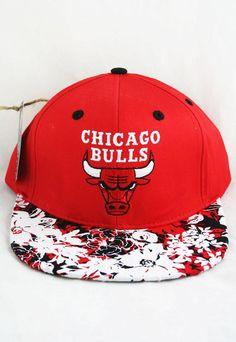 3e7969f55d0 CHICAGO BULLS CUSTOM JAPENESE FLOWER SNAPBACK HAT