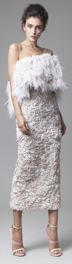 Krikor Jabotian couture 2016 spring summer Kass the only thing your wedding dress is missing is feathers!