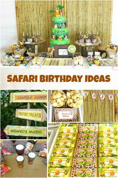 This boy's first birthday party is something to ROAR about! It's a jungle safari party and it's full of color; it's cute; it's clever! Wait 'til you see the decorations that Australia's Marabous used to establish the jungle adventure theme. Lots of ideas culminate in an especially fanciful celebration. Party supplies such as invitations, decorations, and guest and dessert tables are perfectly coordinated to produce a lively visual treat. Be sure to scrutinize the centerpiece cake; it's a…