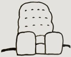 2 chairs by Philip Guston, from Suite of 21 Drawings