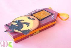 Scrapbooking: Scatola Bara porta dolcetti - Coffin box Sweets holder