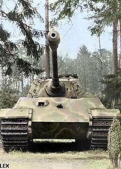"""B """"Königstiger"""" or """"Tiger II"""" from the company of the heavy tank battalion on the ground not far from Troyes. Tiger Ii, Tank Wallpaper, Patton Tank, Tank Armor, Military Armor, Tiger Tank, Tank Destroyer, Armored Fighting Vehicle, Ww2 Tanks"""