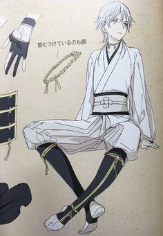Ninja Outfit, Ensemble Stars, Anime Outfits, Touken Ranbu, Katana, Anime Guys, Anime Characters, Naruto, Character Design