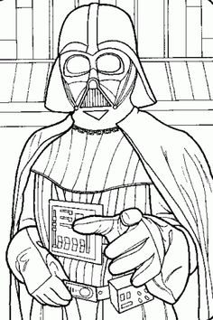 Darth Vader Star Wars Coloring Printable Pages