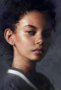 Dijital Sanat: Etkileyici Dijital Portre Ve Tablolar Acrylic Portrait Painting, Painting & Drawing, Portrait Paintings, Acrylic Artwork, Drawing Tips, Portrait Watercolour, Watercolor Artists, Painting Abstract, Acrylic Paintings
