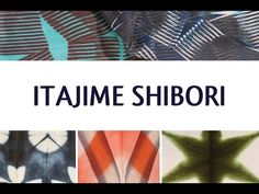 Itajime Shibori • Ana Lisa Hedstrom - YouTube