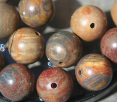 15 8mm round jasper beads by debsdesigns401 on Etsy