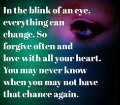 In the blink of eyes