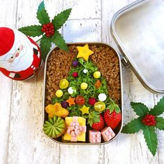 Bento Box Lunch, Bento Lunchbox, Xmas Food, Winter Christmas, Christmas Ideas, Food Art, Acai Bowl, Food And Drink, Meals