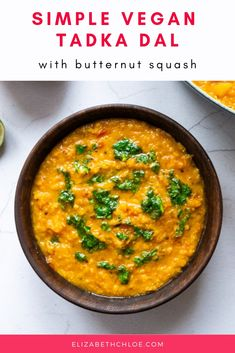 Simple Tadka Dal Recipe with Butternut Squash Lentil Recipes, Vegetarian Recipes, Healthy Recipes, Vegan Butternut Squash Recipes, Delicious Recipes, Savoury Recipes, Curry Recipes, Healthy Nutrition, Healthy Meals