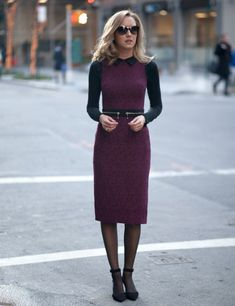 cozy pencil dress 2017 with sweater