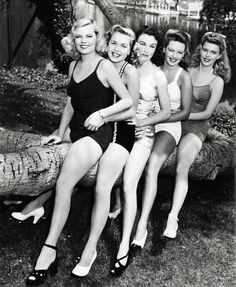 RKO starlets in the early 1940's