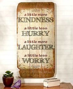 Remind yourself of the good things in life with an Oversized Expression Wall Plaque. This rustic, typographical wall art features an uplifting sentiment.