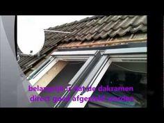 Dakramen plaatsen gekoppeld in een dak met gordingen