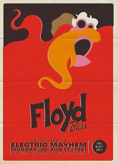 Retro Muppet Concert Poster
