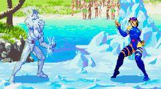 Psylocke vs Ice-Man