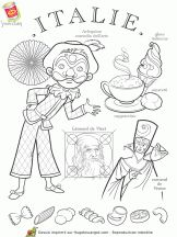 Italy paper doll to color Kids Around The World, People Of The World, Colouring Pages, Coloring Books, World Thinking Day, World Crafts, Thematic Units, World Cultures, Adult Coloring