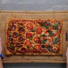 Sheet Pan Quinoa Pizza Crust Recipe by Tasty