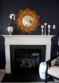 Simple Fireplace Mantle Decor | Centsational Girl