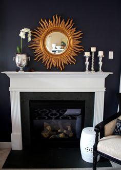 Simple Fireplace Mantle Decor | Centsational Girl