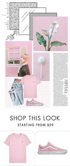 """Lisa"" by jina-7 on Polyvore featuring Polo Ralph Lauren, Vans, Pink, kpop, yg, lisa and BlackPink"