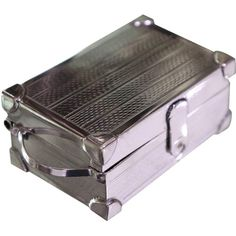 925 Sterling Silver Hand Chased Rectangle Hammer Repoussé Box Container Gift