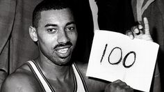 March 2, 1962, Sports Arena, Hershey, PA.  Wilt Chamberlain sliced and diced through the NY Knicks defense to score 100 points in a 169-147 Philadelphia Warriors victory.  No TV video recorded the event and only one audio tape of the end of the game exists.  (Recorded off the radio by a fan.)  Because the game was one of a few played in Hershey that year and would not effect the standings, the Philly press deemed it unnecessary to cover the game.  This NBA record will likely never be…