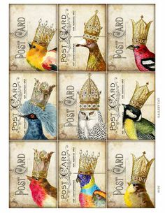 YOUR MAJESTY Digital Collage Sheet Instant Download por GalleryCat