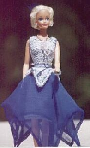 free sewing and crochet pattern for 1952 party dress for barbie