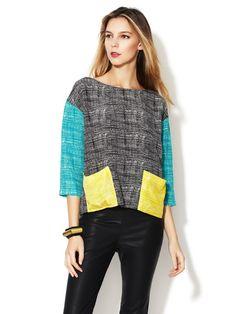 215eff6334fb8 Janice Silk Blouse by Corey Lynn Calter on Gilt.com Top Stitching