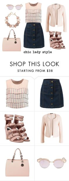 """""""chic lady style"""" by aliciagorostiza on Polyvore featuring moda, Alexis, LE3NO, Laurence Dacade, MICHAEL Michael Kors, Le Specs y ShoeDazzle"""