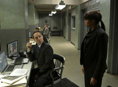Season 2 Episode 12 Carter engages in mental warfare with the FBI to help Reese evade Agent Donnelly's narrowing focus.