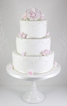 Wedding Cakes - The Fairy Cakery - Cake Decoration and Courses based in Wiltshire Coral Wedding Cakes, Butterfly Wedding Cake, Mini Wedding Cakes, Wedding Cakes With Flowers, Elegant Wedding Cakes, Elegant Cakes, Beautiful Wedding Cakes, Wedding Cake Designs, Wedding Cake Toppers