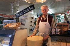 Joel at Calef's cheese counter