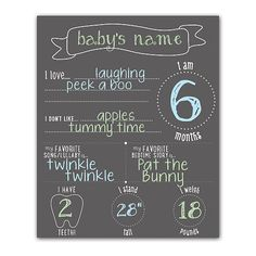 Pearhead Chalkboard Photo Background makes a perfect backdrop for photos of your baby. The black, erasable chalkboard is designed with multiple blank spaces for you to fill out using the included colorful chalk. Features a banner at the top for your baby's name, as well as spaces for baby's age, weight, likes, dislikes, favorite song/lullaby and favorite bedtime story. An adorable and fun way to document his or her growth.