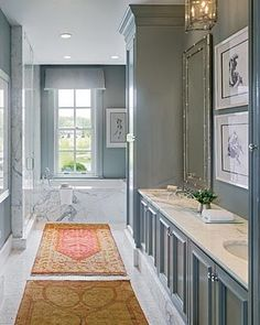 love the gray with the orange ushak rugs