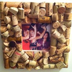 wine cork picture frame love the idea and love wine