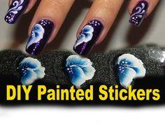 DIY Flower Stickers ,One stroke technique