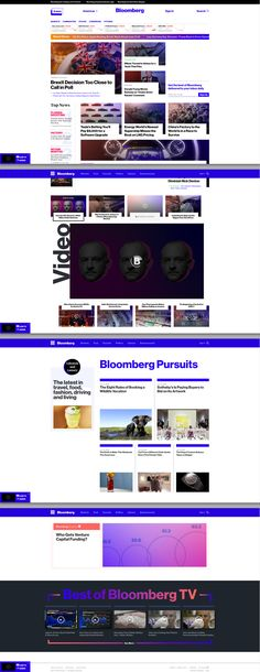 Bloomberg News Website Design