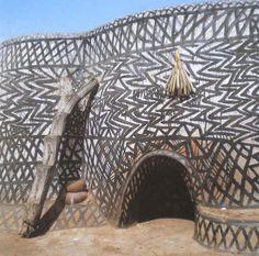 Kassena architecture Navrongo-Saboro, Ghana photographed by Margaret Courtney-Clark