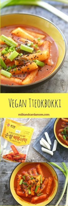 Chewy rice cakes smothered in a spicy and sweet sauce! A traditional Korean street food made vegan!