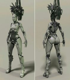 Katrine (body) by Mikhalchishin - CGHUB Cyborg Girl, Female Cyborg, Character Concept, Character Art, Character Design, Steampunk, Zbrush, Arte Robot, Sci Fi Armor
