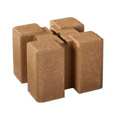 Oldcastle 8 in. x 8 in. x 6 in. Tan Brown Planter Wall Block Easy raised bed, for the corners, slide boards into slots. Concrete Retaining Walls, Concrete Planters, Stone Planters, Home Depot, Bee Traps, D Tan, Curved Walls, Garden Boxes, Garden Ideas