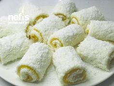 Portakal Soslu Lokum – Nefis Yemek Tarifleri Granola, Biscotti, Deserts, Tart, Pudding, Food, Dessert, Bees, Desserts